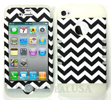 KoolKase Hybrid Armor Silicone Cover Case for Apple iPhone 4 4S - Chevron 98