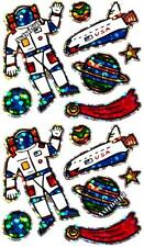~ Astronaut Planets Stars Space Craft Ship Hambly Studio Glitter Stickers ~