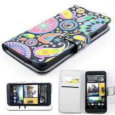 Fashionable Flip Leather Stand Card Slots Wallet Hard Cover Case For HTC One M7