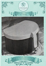 Vintage womens sewing pattern-How to make 1940s hat box,storage box-free UK P&P