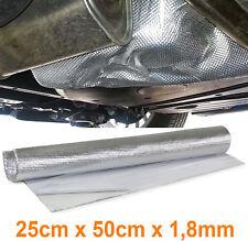 30x100 cm Hitzeschutzfolie Hitzeschutzmatte Alu Kfz Motorrad Roller 1,4 mm 800°C