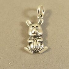 .925 Sterling Silver RABBIT CHARM NEW Bunny Toy Stuffed Animal Pendant 925 AN82