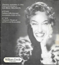 GLORIA SWANSON 1983 ESTATE Auction Catalog SUNSET BOULEVARD AWARDS COSTUMES +++