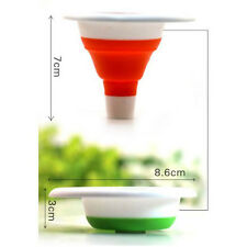 Suspensible Mini Silicone Gel Foldable Funnel Practical Collapsible Style