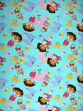 Dora Explorer and Boots Fly Away Butterflies 100% Cotton Fabric By-the-Yard