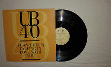 "UB40–(I Can't Help)Falling In Love With You-Disco Mix 12"" 45 Giri Vinile 1993"