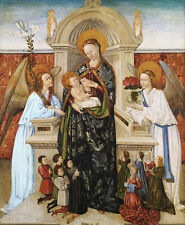 Virgin and Child, Angels and Family of Donors Baro Jesus Maria Engel B A3 00886