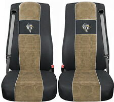 COPRISEDILI IN VELOURS PER CAMION DAF XF 105 / XF 106 NERO - BEIGE For TRUCK