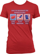 How to Celebrate the 4th of July - Grill Meat Blast Fireworks Juniors T-shirt