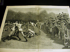 A.B. Frost Princeton v Yale FOOTBALL GAME Scrummage at the Close 1881 Lrg Print