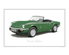 Triumph Spitfire green - Limited Edition Classic Car Print Poster by Steve Dunn