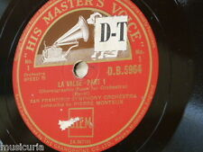 "78rpm 12"" RAVEL - la valse , san francisco symphony - pierre monteux DB.5964"