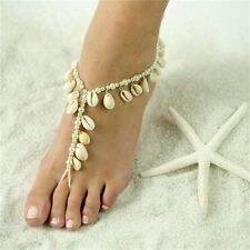 NEW Lady Foot Jewelry Pearl Anklet Barefoot Sandal Natural Shell Ankle Bracelet