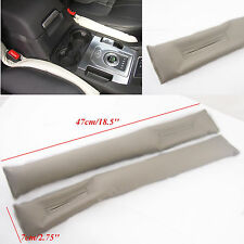 2 Pcs Gray Artificial Leather Car Seat Gap Filler Soft Pad Stop Holster Blocker