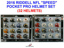 "(2016) Riddell NFL ""SPEED"" Pocket Pro Helmet Set (AFC & NFC CONFERENCE)"
