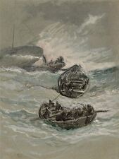 ELIHU VEDDER AMERICAN SHIPWRECK OLD ART PAINTING POSTER PRINT BB5252A