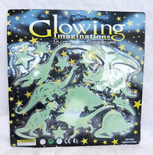Glowing imaginations-glow in the dark autocollants-dinosaure & stars pack