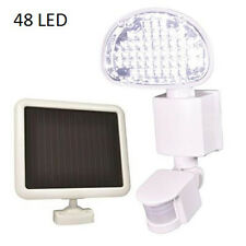 Defiant 48 LED Solar Powered Motion Activated Flood Light Outdoor Security