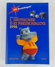 1 Deutscher ÜEi Preiskatalog 1998 Autor Juergen Ahrens Kraegermann Verlag Berlin