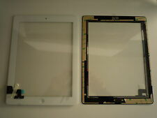 KIT Touch screen touchscreen per Ipad 2 II bianco vetro tasto home+adesivo colla