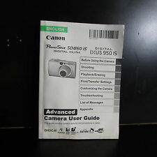 Canon PowerShot SD850 IS Ixus 950 IS camera Owner Guide Manual O401852
