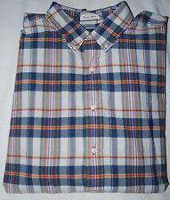NWT Men's Polo Ralph Lauren S/S Bleeding Madras Button Down Shirt $98 3XB Big