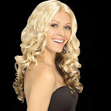Goldilocks Wig costume female long curly blonde gold Ombre blend washable Rubies