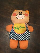 Vintage Playskool Milton Bradley Baby Bear Plush Soft Story Book Stuffed 1974