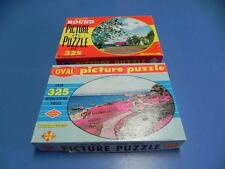 Vtg Set of 2 BuiltRite 325+ JIGSAW PUZZLE Flower Beds of Monterrey Day of Spring