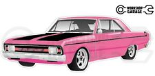 Chrysler Valiant VG Pacer Hemi 2Door - Pink with Momos