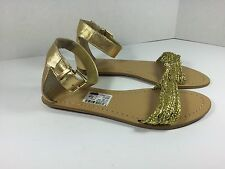 Nine West Solitude Gold Ankle Strap Women's Size 6 M Sandals