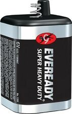 2 PACK  6 VOLT LANTERN BATTERY EVEREADY 1209 Super Heavy Duty Spring Top