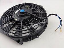 "UNIVERSAL 12V SLIM 12"" PULL/PUSH CAR RADIATOR ENGINE COOLING FAN+MOUNTING"