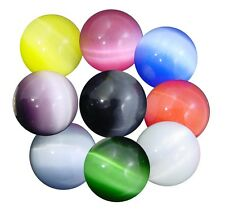 BUTW 9 colors fiber optic 25mm sphere lapidary cats eye 3894P