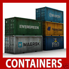 Model Shipping Container Card Kits N Scale 1:160 x 12 Mixed 40ft/45ft N Gauge
