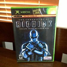 XBOX Chronicles of Riddick: Escape From Butcher Bay (2004) SEALED, NEW, BLACK LB