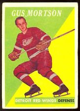 1958 59 TOPPS HOCKEY #38 GUS MORTSON VG DETROIT RED WINGS CARD FREE SHIP USA