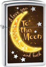 Zippo 29059 i love you to the moon and back high polish chrome Lighter