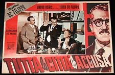 fotobusta film MARTIN TOCCAFERRO Peppino e Titina De Filippo U.Spadaro 1956