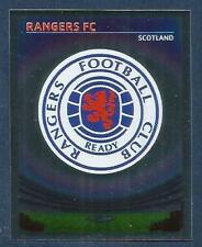 PANINI UEFA CHAMPIONS LEAGUE 2007-08- #315-RANGERS TEAM BADGE-SILVER FOIL