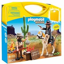 NEW - Playmobil Western Carry Case Set - 5608