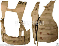 New US Army MOLLE II Desert Tan Fighting Load Carrier DCU Survival Vest FLC LBV
