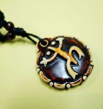 Men Women Unique Taino Tribal Culture Biker Frog Embossed Necklace