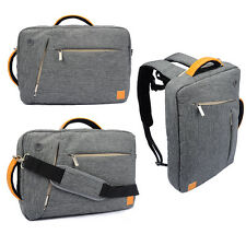 "3 in 1 Grey 10"" _11.6"" Laptop Messenger Sleeve Bag Backpack Briefcase Case Cover"