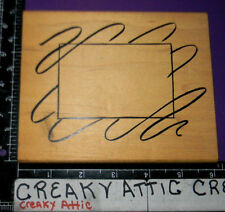 SQUIGGLED SWIRL FRAME RUBBER STAMP DENAMI DESIGNS PICTURE