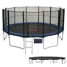 NEW 16 FT FOOT XL TRAMPOLINE WITH FREE RAIN COVER, LADDER, SAFETY NET, SHOE BAG