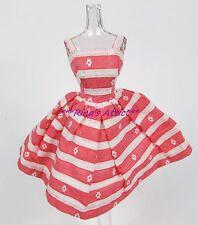 Vintage 1963 BUSY MORNING #956 Pink Floral Barbie Doll Dress