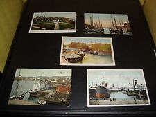 Vintage Saint John N.B. Canada Post Card Quantity 5 Lot VG Condition 1908 Harbor