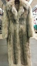 Womens Ladies LYNX Fur Coat Full Length Pelts