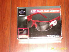 The Sharper Image LED LIGHT MULTI-TASK GLASSES GOGGLES ADJUSTABLE CLEAR LENS